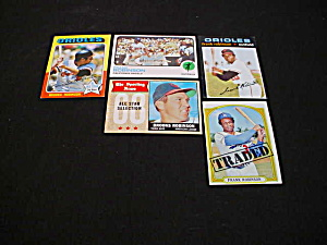 Frank & Brook Robinson Baltimore Oriole Cards (Image1)
