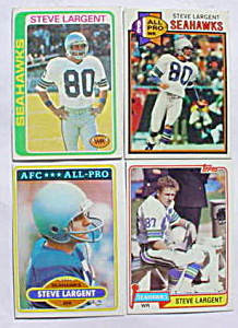 Steve Largent Football Cards 1978-81 (Image1)