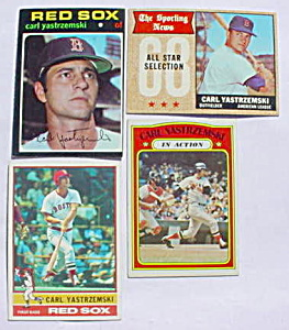 Yastrezemski Boston Red Sox Baseball Cards (Image1)