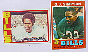 O.J. Simpson Buffalo Bills Football Cards (Image1)