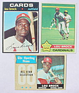 Lou Brock St. Louis Cardinals Baseball Cards (Image1)