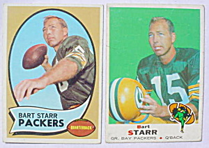Bart Starr Green Bay Packers Football Cards (Image1)