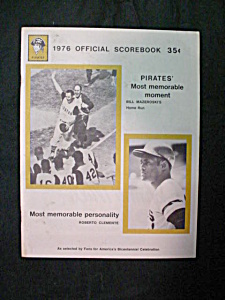 1976 Pittsburgh Pirates Offical Scorebook (Image1)