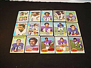 60's-80's Minnesota Vikings Football Cards (Image1)