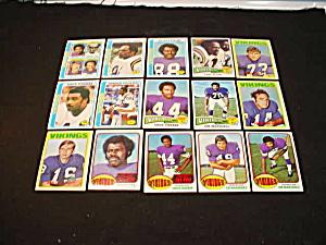 60's-80's Minnesota Vikings Football Cards (Image1)