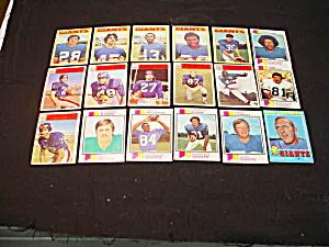 60's-80's N.Y. Giants Football Cards (Image1)