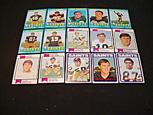 70's-80's New Orleans Saints Football Cards (Image1)