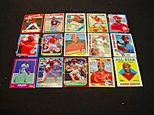 Ozzie Smith Baseball Card Collection (Image1)