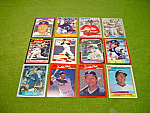 Carlton Fisk Boston Red Soxes Baseball Cards (Image1)