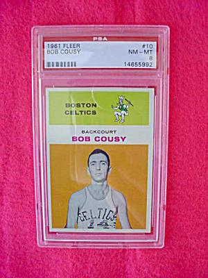 1961-62 Fleer Bob Cousy Card PSA 8 (Image1)