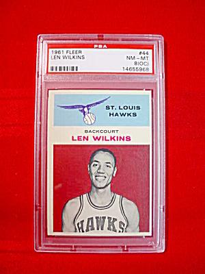 1961-62 Fleer Lenny Wilkens RC PSA 8 (OC) (Image1)