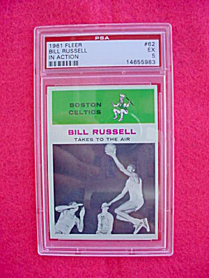 1961 Fleer Bill Russell IA Basketball Card (Image1)