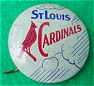 Old St. Louis Cardinals Baseball Pinback (Image1)