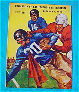 S.F.  v. Duquesne 10/5/47 Football Program (Image1)