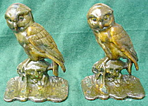 Pr. of Early Owl Cast Iron Bookends (Image1)