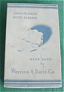 Whiting & Davis Mesh Bag Purse W/org. Box