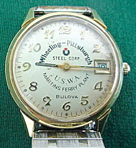 Whg. Pitt. Steel 35 Yrs Service Bulova Watch (Image1)