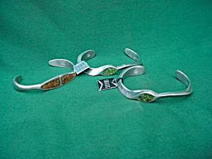 3 Swank Pewter Bracelets (Image1)