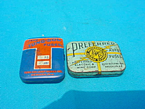 Pr. of Old Automotive Fuse Tins (Image1)