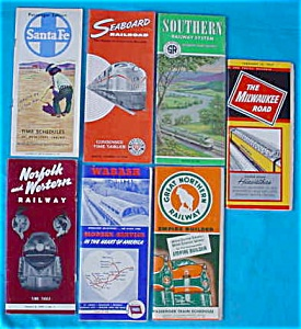 1950's Railroad Timetable Booklets (Image1)