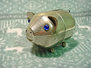Chrome Pig Bank (Image1)