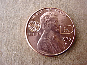 (50) 1975 Pennsylvania Souvenir Pennies (Image1)