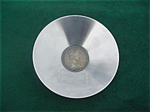 Italian Coin Stainless Ashtray