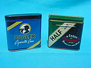Pr. of Sm. Size Tobacco Pocket Tins (Image1)