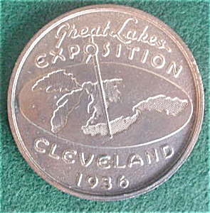 '36 Great Lakes Cleveland Expo Penny Medallio (Image1)