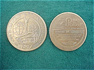 Pr.  of 1962 Seattle World's Fair Tokens (Image1)