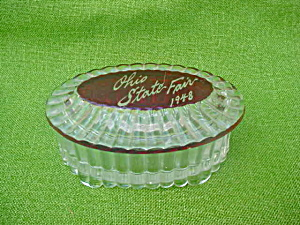 1948 Ohio State Fair Souvenir Glass Box