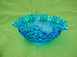 Blue Fenton Thumbprint Bowl (Image1)