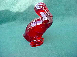 Ruby Glass Animal Duck (Image1)