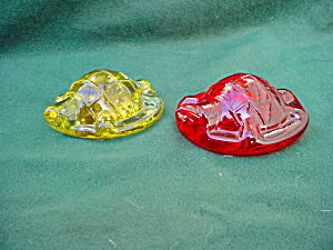 Pr. of Turtle Glass Paperweights (Image1)