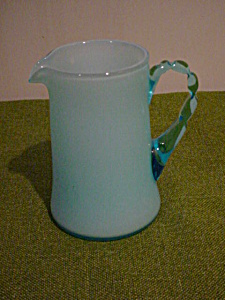 Sm. Blue Applied Handle Pitcher (Image1)