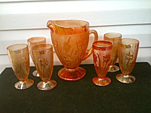 7 Pc. Iris & Herringbone Water Set (Image1)