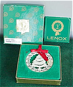Lenox Yule Tide Christmas Tree Ornament W/box