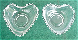 Imperial Candlewick 5 In. Heart Shaped Bowls