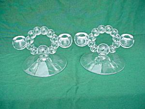 Candlewick Twin Candleholders w/Mallard Etch (Image1)