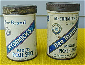 Pr. of McCormick's Mixed Pickle Spice Tins (Image1)