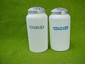 Pr. of Milk Glass Spice Jars (Image1)