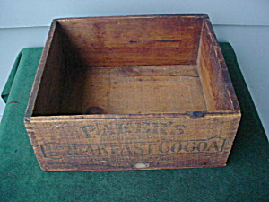 Adver. Baker's Cocoa Wood Box (Image1)