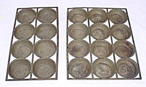 Pr. of Early Tin Muffin Trays (Image1)