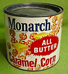 Older Monarch Caramel Corn Tin (Image1)