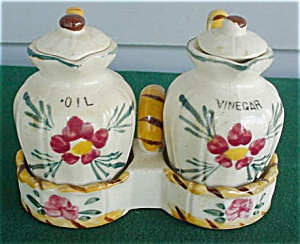 3 Pc. Hand Painted Oil & Vineger Set (Image1)