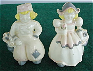 Pr. of Ducth Figural Plastic S&P Shakers (Image1)