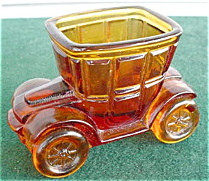 Amber Glass Early Automobile Toothpick (Image1)