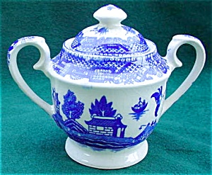 Blue Willow-Style Child's Sugar w/Lid (Image1)