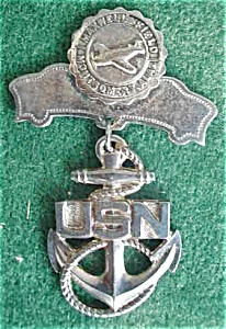 Maxwell Field Montgomery, AL USN Pinback (Image1)