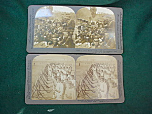 Pr. of Early Japanese Army Stereoview Cards (Image1)